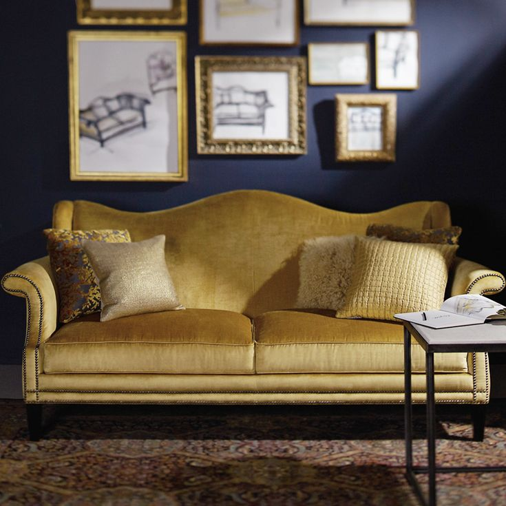 Fitzgerald Sofa In Lustrous Gold | Bernhardt Sofas + Sectionals | Pinterest  | Interiors, Bedrooms And Living Rooms.