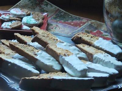 White Chocolate Cherry Almond Biscotti - start off with a cake mix...