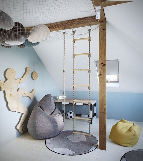 Cool sports and ladder room | #vikingtoys