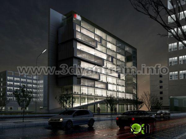 Yantram expert in design for commercial building night for Commercial building elevation photos