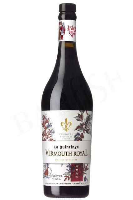 BarFish - La Quintinye Vermouth Royal Rouge – 16.5% – 750ml - Vermouth - Aperitif - Barkultur genießen!