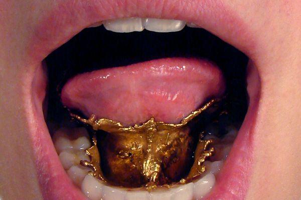 gold coated tongue