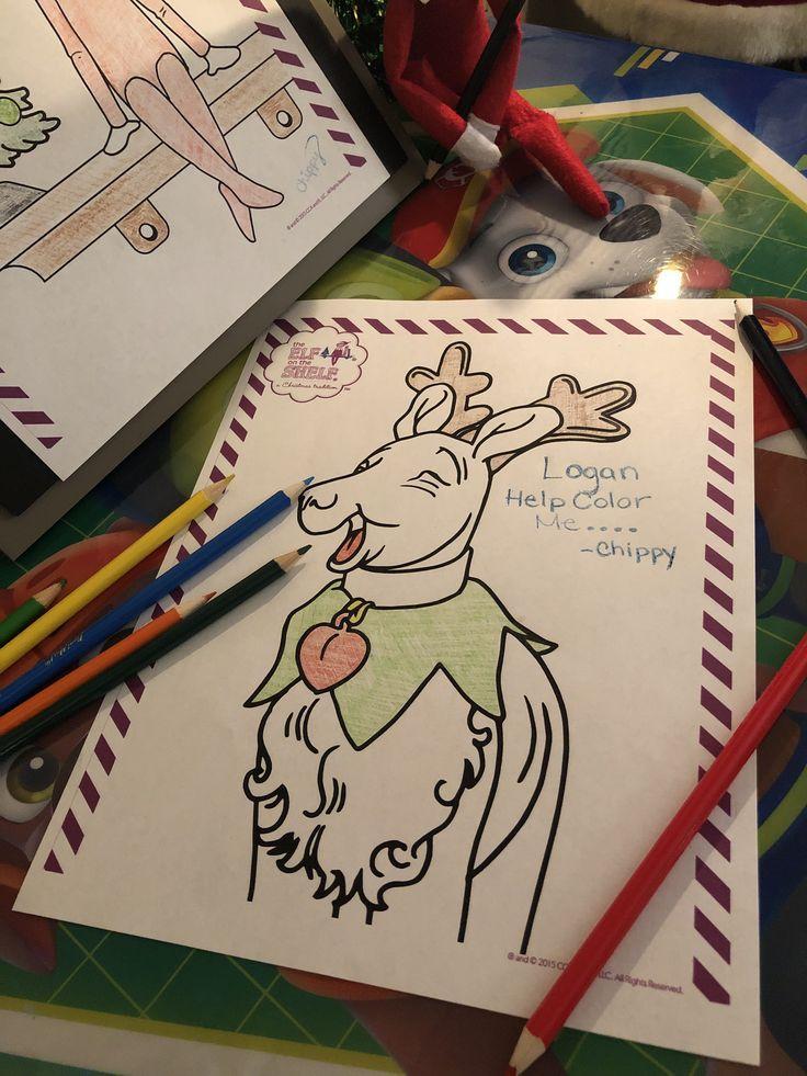Elf on the Shelf Coloring Adventure | Elf, Color, Color me