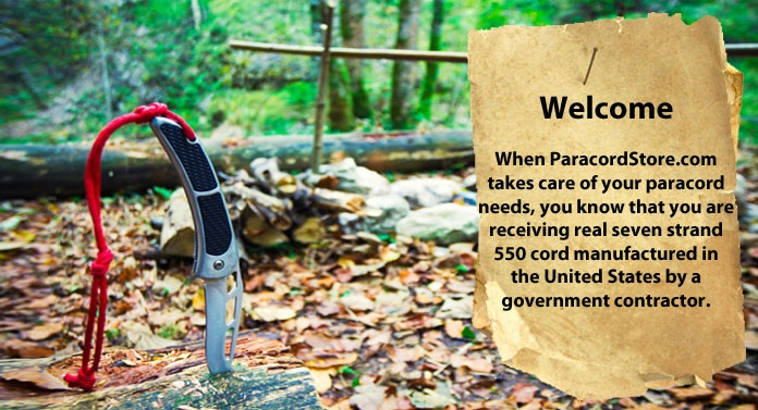 ParacordStore.com - real seven strand 550 cord manufactured in the United States by a goverment contractor.