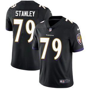 Nike Ravens #79 Ronnie Stanley Black Alternate Men's Stitched NFL Vapor Untouchable Limited Jersey