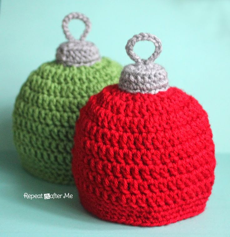Its not too late to whip up one of these quick and easy Crochet Christmas Ornament Hats! A...