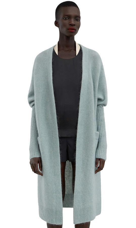 Acne Studios Raya Mohair Dull Jade Green Kimono sleeve cardigan