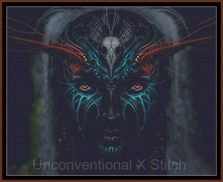Shaman Queen cross stitch pattern - Licensed Alex Ruiz by UnconventionalX on Etsy