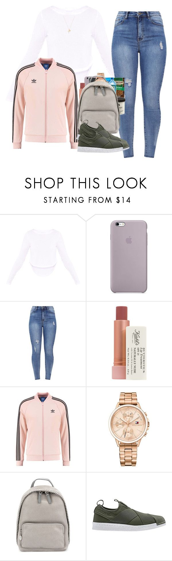 """""""Untitled #310"""" by champagnayegang ❤ liked on Polyvore featuring Kiehl's, adidas Originals, Tommy Hilfiger, STELLA McCARTNEY, adidas and Joolz by Martha Calvo"""