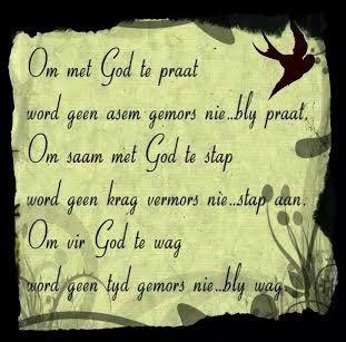 Om met God te praat word geen asem gemors nie...