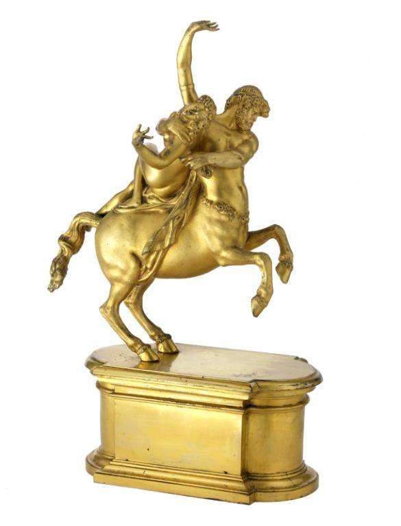 Jean de Bologne (Douai, 1529 - Florence, 1608) (d'après), Enlèvement de Déjanire par le centaure Nessus, France, époque Louis XIV. MAD 1350. Don Baverey, 1936 © Musée des Arts décoratifs de Lyon, Sylvain Pretto