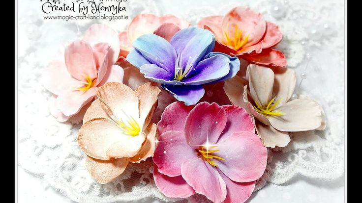 Colouring of foamiran flowers with different media Video Tutorial