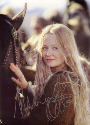 Eowyn from Lord of the Rings. Girls, this is the kind of princess you should want to be. The type that fights in her father's army, gets her heart broken and STILL defeats the witch king. You go, gurlfrand.