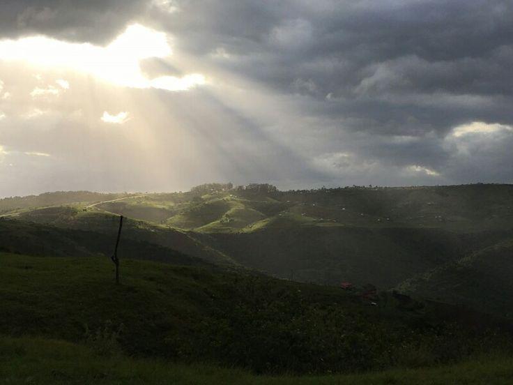 A break in the clouds over Transkei Hills