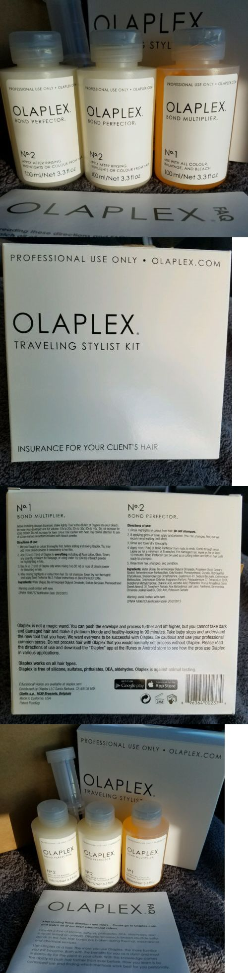 Hair Beauty: Fast Free Shipping! Brand New 3Pc Set Olaplex Traveling Kit - Steps 1 And 2 -> BUY IT NOW ONLY: $62.0 on eBay!