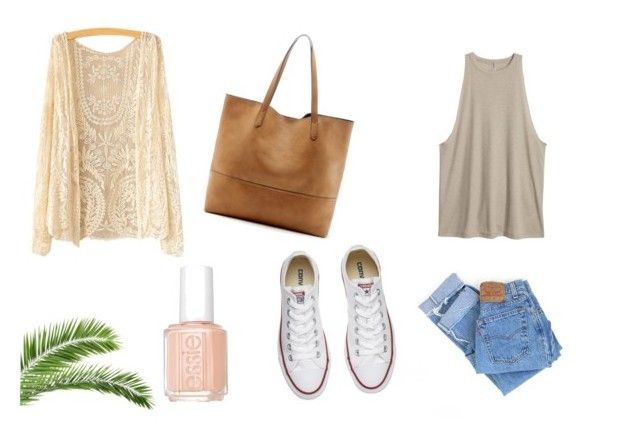 Soft by madisongglm on Polyvore featuring Levi's, Converse, Sole Society and Essie