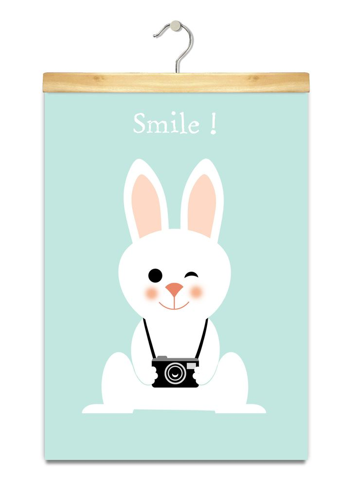 affiche b b lapin smile b b et sourire. Black Bedroom Furniture Sets. Home Design Ideas