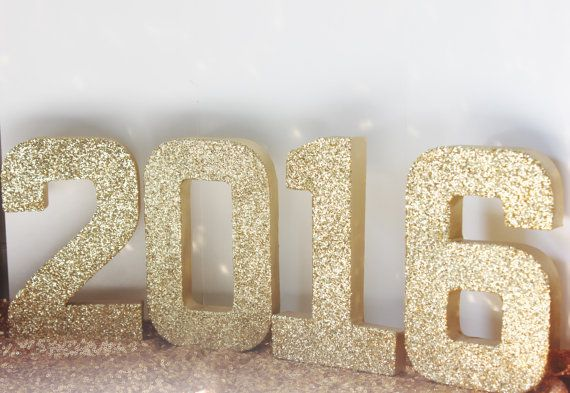 2016 GLITTER NEW YEARS Numbers Glittered by DesignsByEmbellish