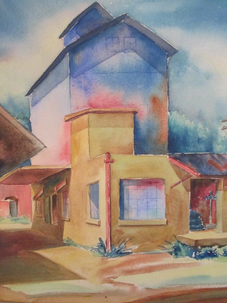 Mccaughey Vintage American Regionalism Street Scene Landscape Painting Signed | eBay