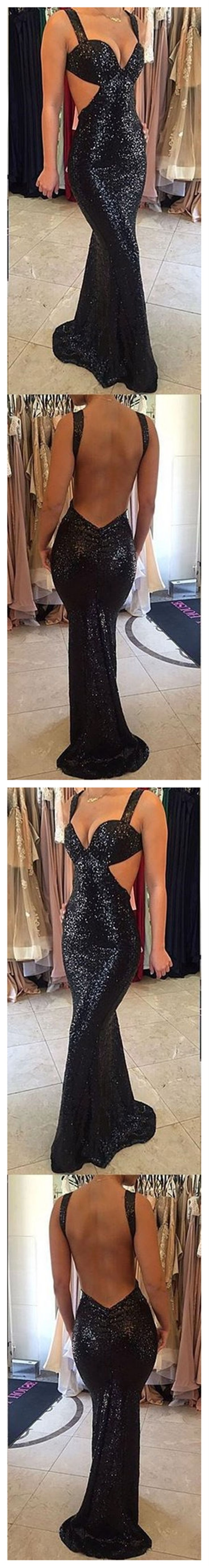 Black Sequined Prom Dresses,Sparkle Prom Dresses,Sexy Prom Dresses, Backless Prom Dresses,Party Dresses ,Cocktail Prom Dresses ,Evening Dresses,Long Prom Dress,Prom Dresses Online,PD0200