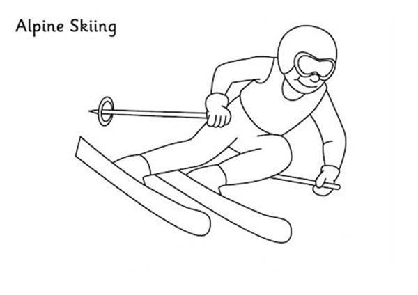 Freestyle Skiing Coloring Pages