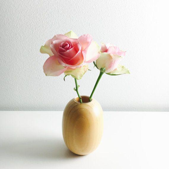 Vintage Aarikka wooden vase named Sireeni by FinnishVintageOasis