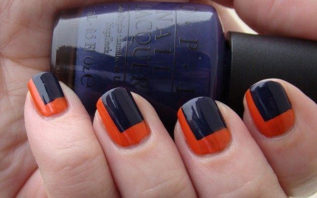 orange & navy (UTSA) color block