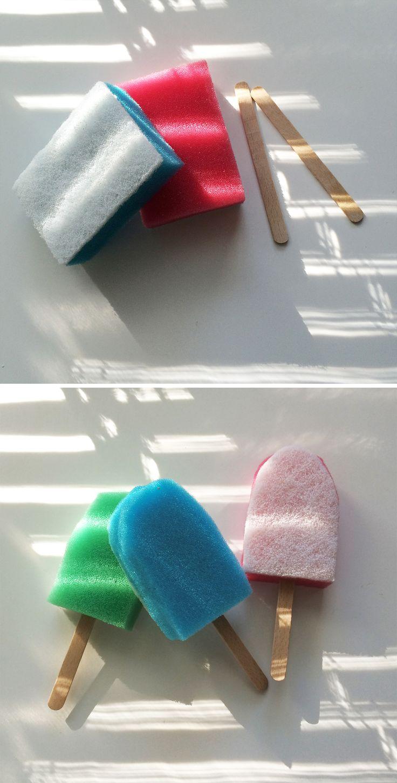 Kestojäätelöt  | lasten | askartelu |  kesä | käsityöt | koti | ideas for kids summer activity| DIY ice cream for kids | kid crafts | summer | home | Pikku Kakkonen