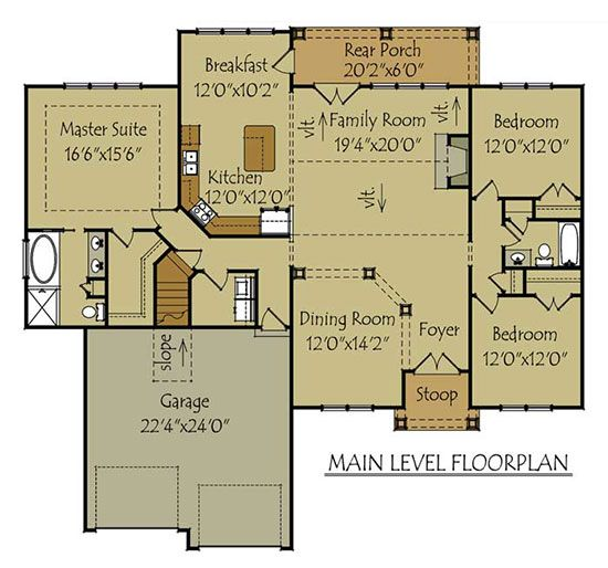 1 story 3 bedroom house plan mountain cottage cottage for One story mountain house plans
