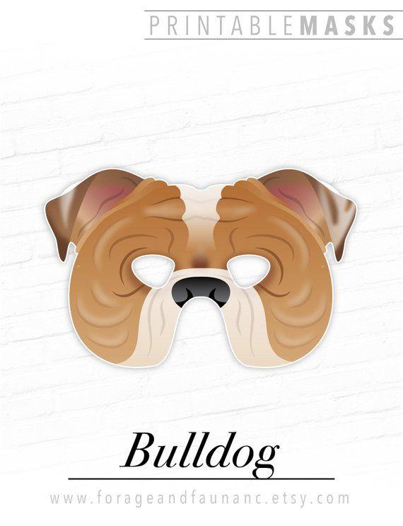 Printable Halloween Mask Paper Mask Bulldog Printable Mask