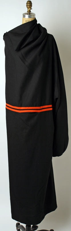 Dress Yohji Yamamoto (Japanese) ca. 2001-2 wool, synthetic, cotton