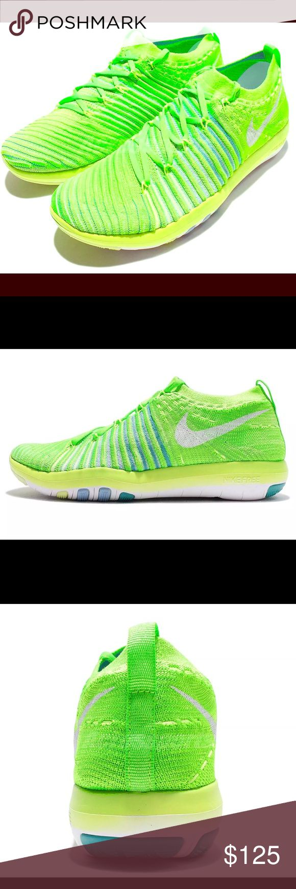 🔥NIKE CLEARANCE🔥 SZ 12 ⚡️NIKE WMNS ⚡️FREE TRANSFORM FLYKNIT SZ 12 Elec. Green/wht/jade 833410-302 NWT Transform your fitness life with these electric green, white and hyper Jade flyknit shoes designed for training! MSRP $150 SZ12 Womens NWT *Box is missing top Nike Shoes Athletic Shoes