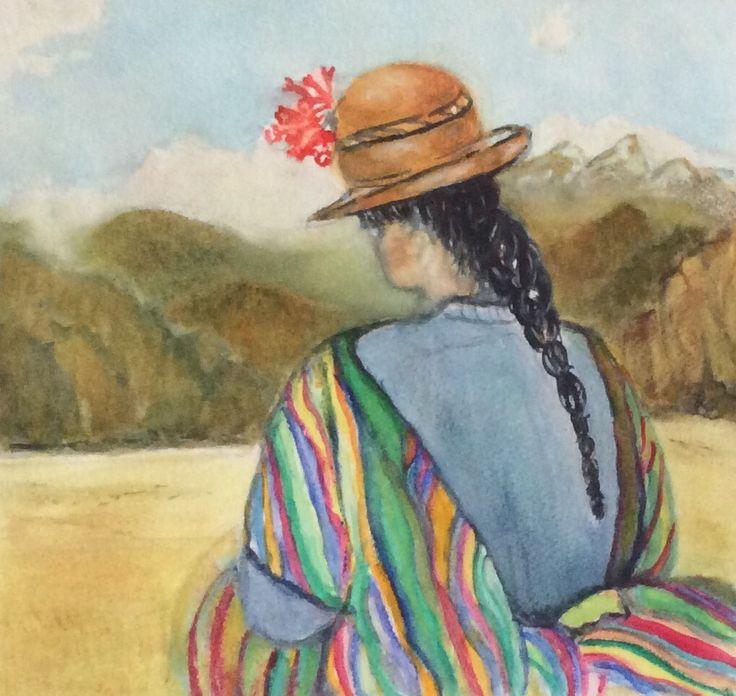 Peru 2 watercolor
