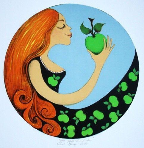 Pelirroja con manzana - By Emma Srncová