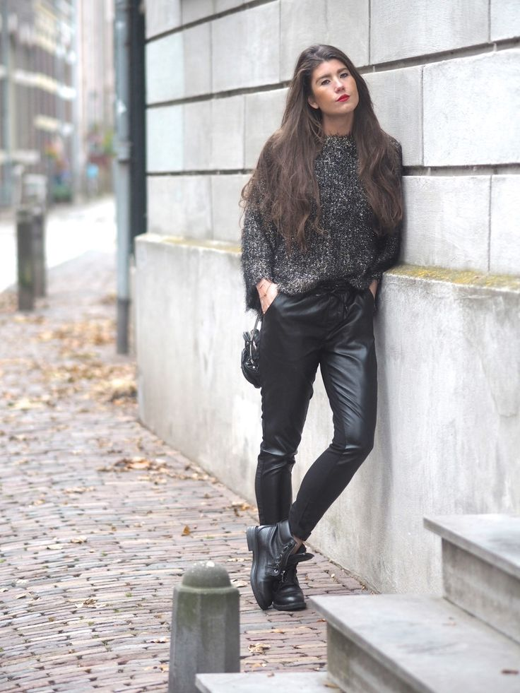 www.streetstylecity.blogspot.com Fashion inspired by the people in the street ootd look outfit leather pants