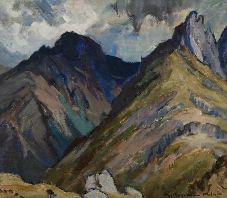 Cir Mhor, Arran by John Maclauchlan Milne (Scottish 1886-1957)