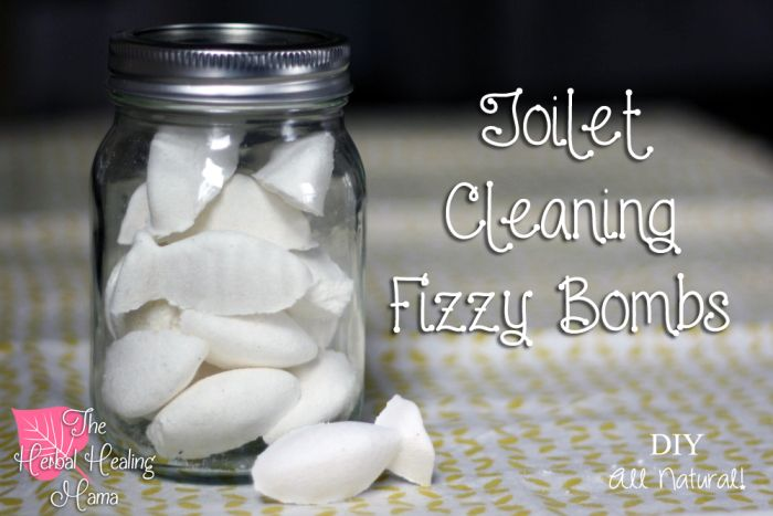 Toilet Cleaning Fizzy Bombs - DIY All Natural