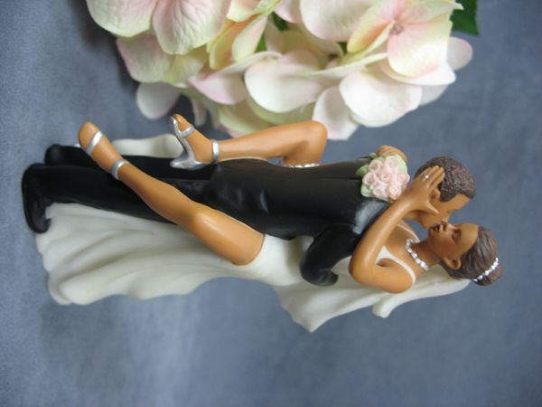 Black People Wedding Cake Toppers