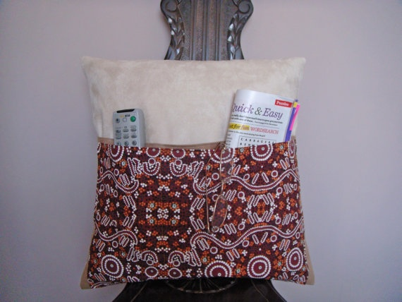 Pocket Pillow Vibrant decorative Aboriginal by ItsSewInspirational, £15.30