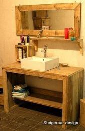 Steigerhouten badkamermeubel met legplank | badmeubel Jan Lieuwe | de Steigeraar