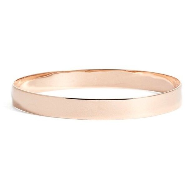 """""""Women's Lana Jewelry 'Nude' Large Bangle"""" (52,940 HNL) ❤ liked on Polyvore featuring jewelry, bracelets, accessories, rose gold, white gold bangle, 14k white gold jewelry, hinged bracelet, bracelets bangle and 14k bangle"""