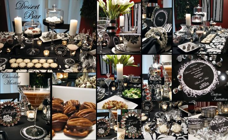 A Black White Dinner Party Black And White Themes