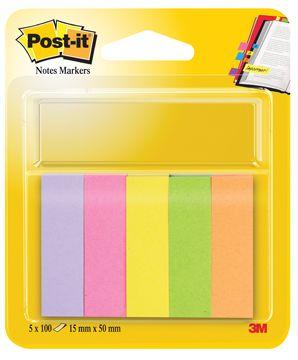 Met deze papieren markeerstroken van Post-it is het heel eenvoudig om bepaalde pagina's in een boek terug te vinden.