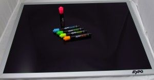Expo Black Dry Erase Board and Neon Dry Erase Markers