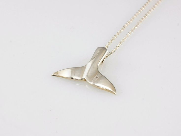 Sterling Silver Whale Tail Pendant NZ$189 Silver. Sure to remind you of the majestic creatures that roam our oceans.  Jewellery made @jewelbeetle in  Nelson, New Zealand
