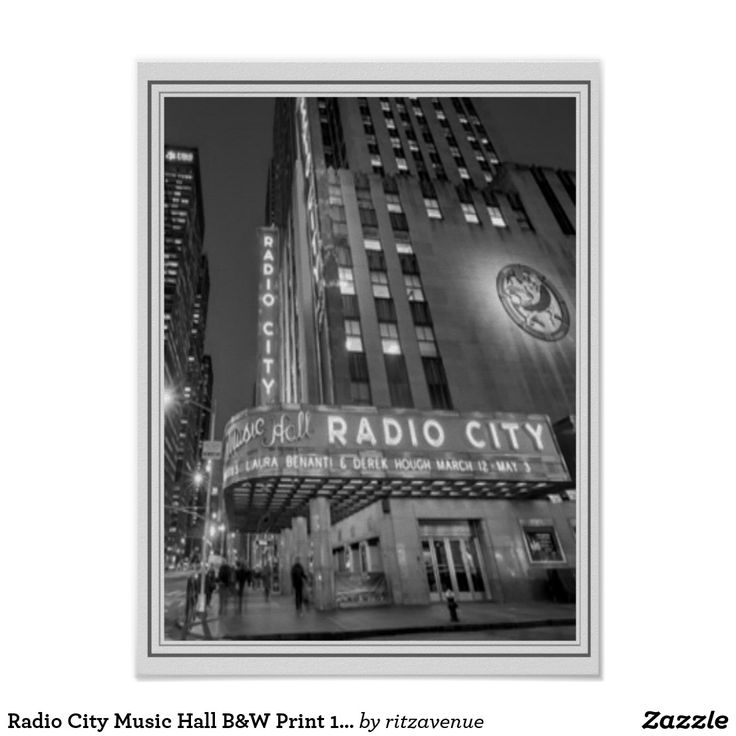 Radio city music hall bw print 12 x 16 14