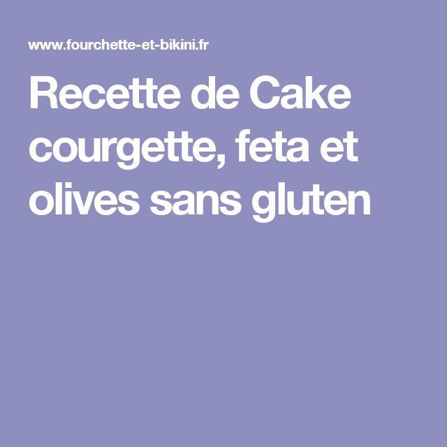 Recette cake courgette feta thermomix