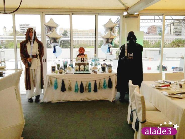 Fiesta de comunión temática Star Wars organizada por Alade3  www.alade3.es