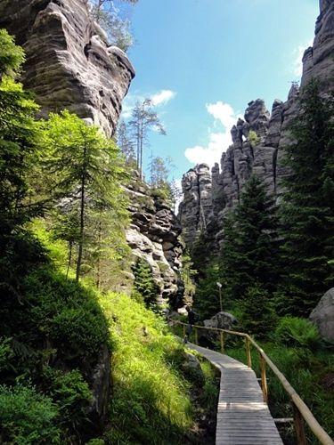 Teplice Rocks, Czech Republic.