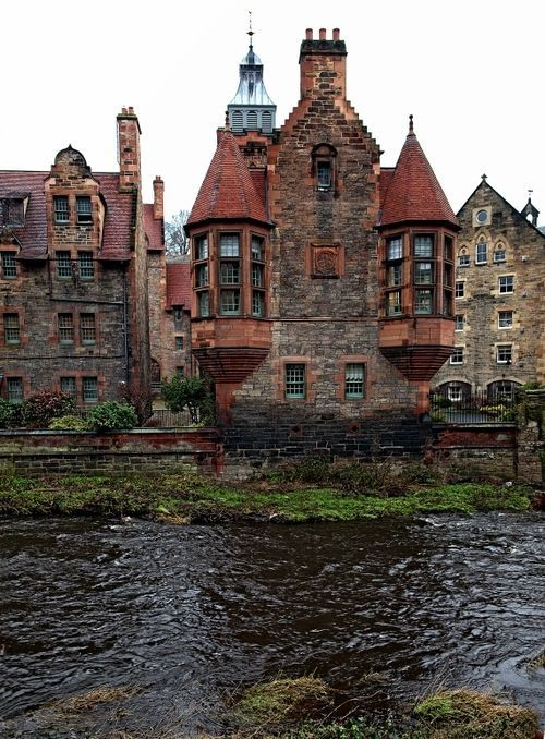 Water of Leith, Dean Village, Edinburgh, Scotland by Pieter Bos